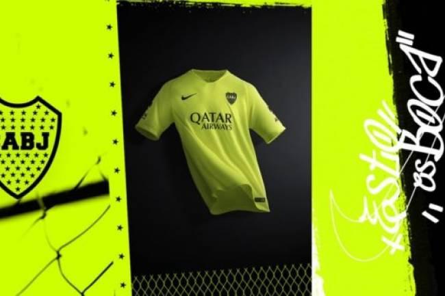 Nike presentó la tercera camiseta de Boca Juniors