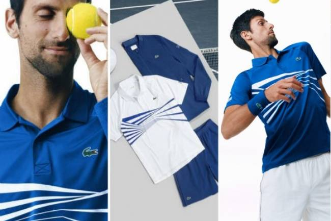 Novak Djokovic estrena nueva indumentaria Lacoste para Australian Open