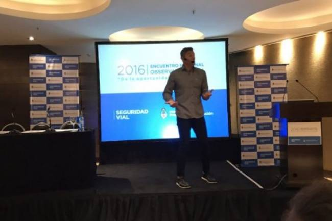 Sergio Goycochea se hizo presente en el Encuentro anual de Seguridad Vial