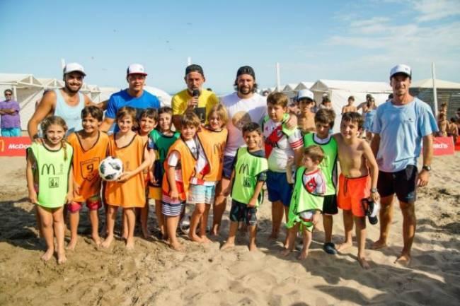 McDonald´s realizó clínicas de fútbol en Pinamar y Mar del Plata