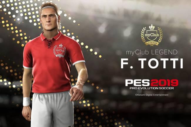 """Totti, Nakata y Park Ji-Sung; nuevas leyendas de """"myClub"""" de PES"""