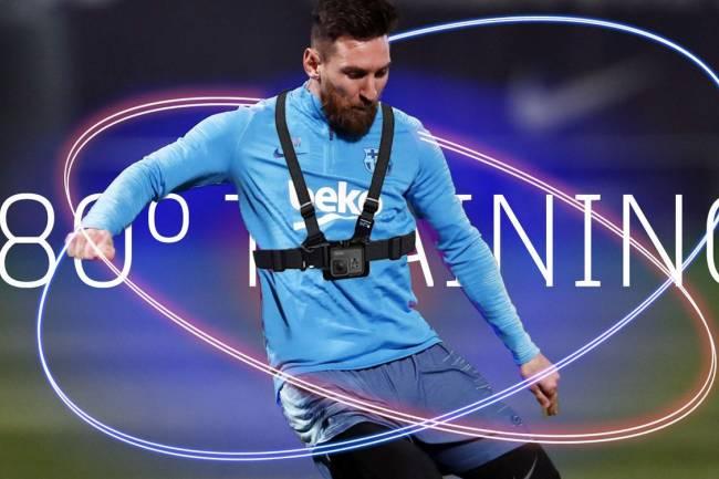 Gatorade muestra como entrena Leo Messi en primera persona