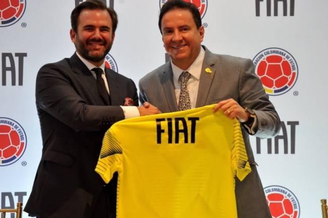 Fiat se convirtió en el automóvil oficial de la Selección Colombia