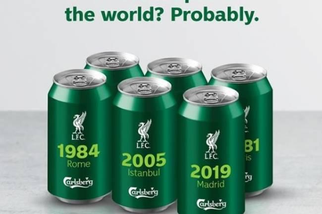 Carlsberg festeja la sexta UEFA Champions League de Liverpool