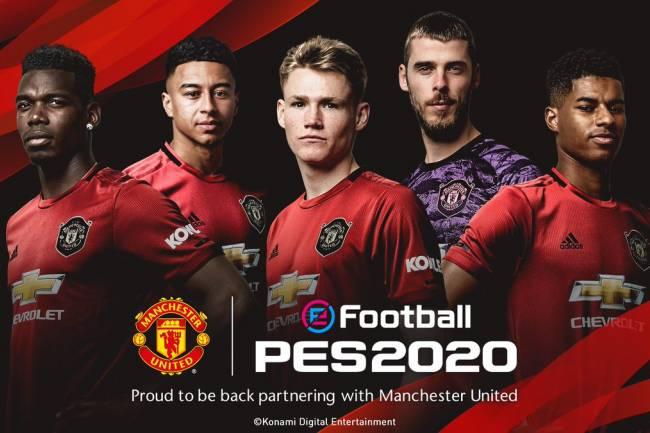 Manchester United estará licenciado en eFootball PES 2020