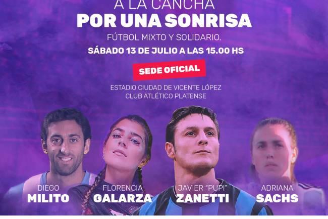 """La Fundación Pupi y Diego Milito organizan """"A la cancha con una sonrisa"""""""