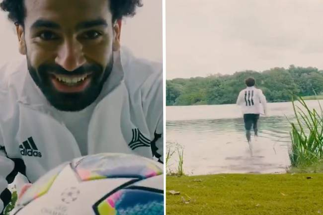 Mohamed Salah desafía la gravedad