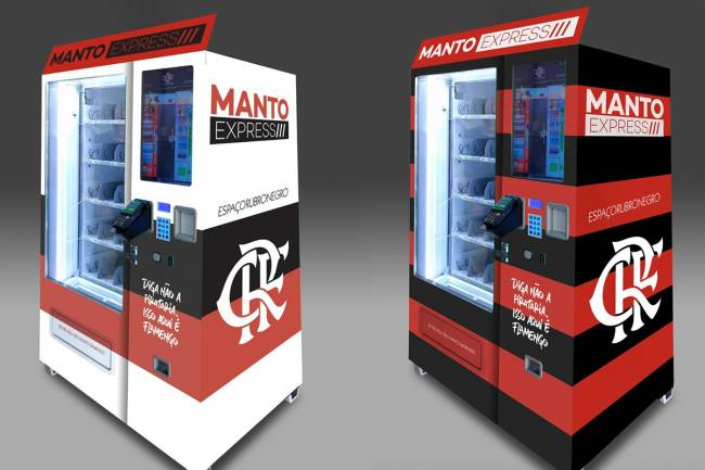 Flamengo presenta una máquina expendedora de camisetas