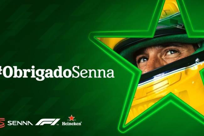 Heineken rinde homenaje a Ayrton Senna en el GP de Brasil
