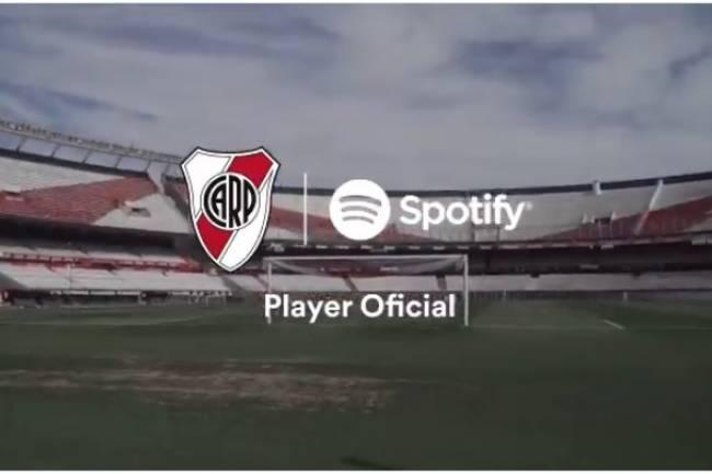 Spotify activa su patrocinio con River Plate