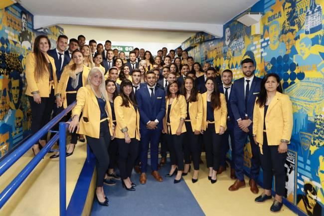 Giorgio Redaelli vistió de gala al plantel masculino y femenino de Boca Juniors