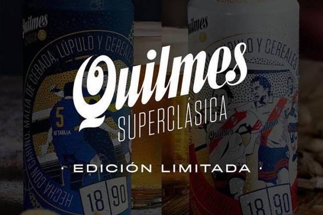 Quilmes lanza latas edición limitada del superclásico