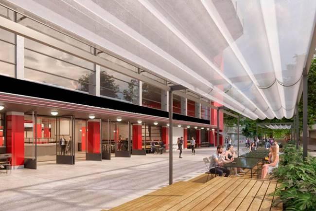 Estudiantes de La Plata presentó el sector gastronómico que tendrá el nuevo estadio