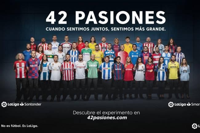 """LaLiga puso en marcha el experimento """"42 Pasiones"""""""