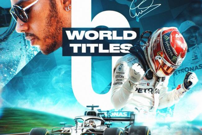 Puma celebra el sexto título de Lewis Hamilton