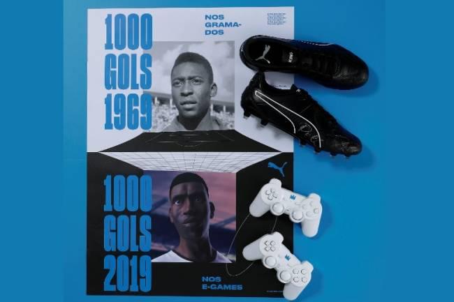 Puma activa su patrocinio con Pelé a 50 años de su gol número 1000
