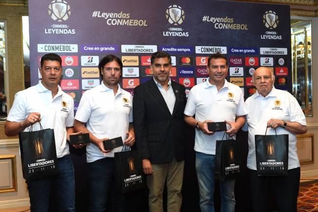 CONMEBOL presentó el Programa Leyendas en la primera Final Única de Copa Libertadores