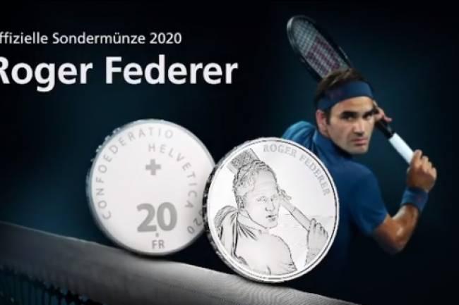 Roger Federer tendrá sus monedas en Suiza