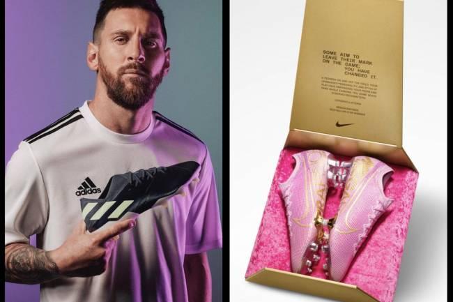 Nike y Adidas celebran los balones de oro de Rapinoe y Messi de manera similar