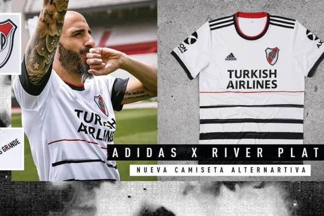 Adidas presentó la nueva camiseta alternativa de River Plate