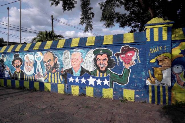 Under Armour intervino los murales de los hinchas de Rosario Central