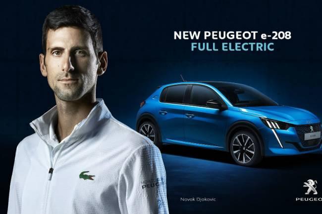 Peugeot celebra el puesto 1 de Novak Djokovic