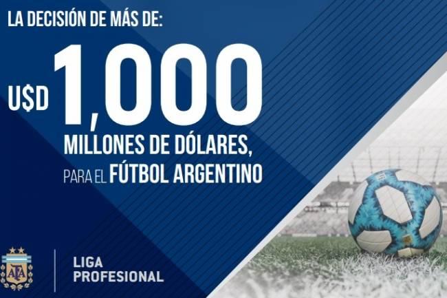 """""""La decisión de más de U$D 1000 millones de dólares para el fútbol argentino"""""""
