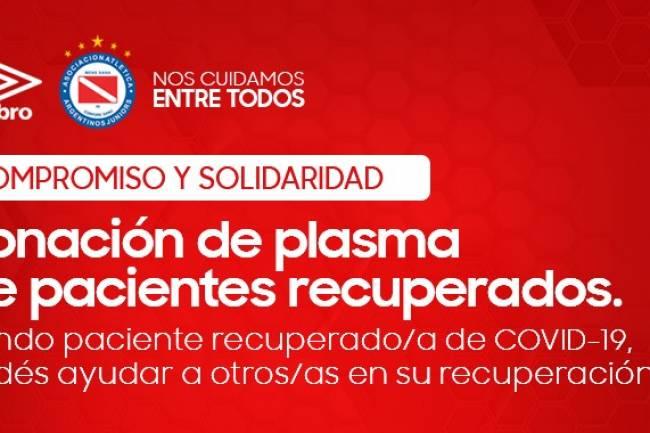 Argentinos Juniors y Umbro buscan incentivar a la donación de plasma