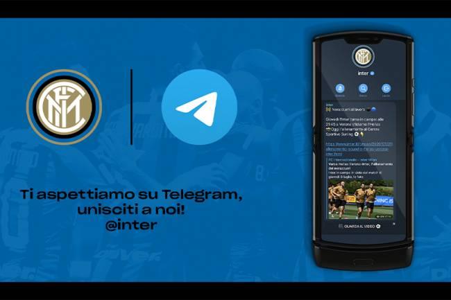 Inter suma a Telegram como plataforma oficial