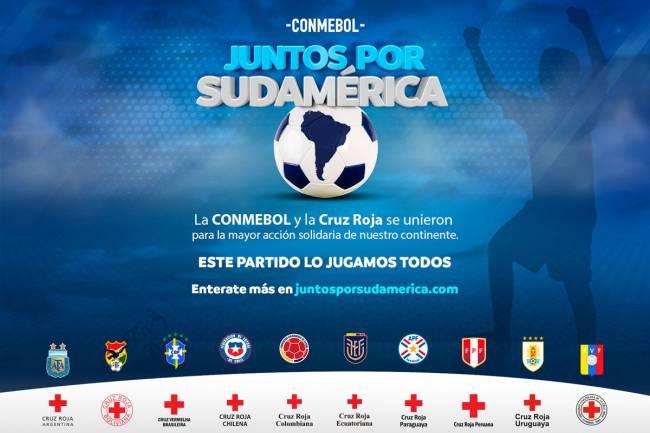 """CONMEBOL lanza junto a Cruz Roja """"Juntos por Sudamérica"""""""