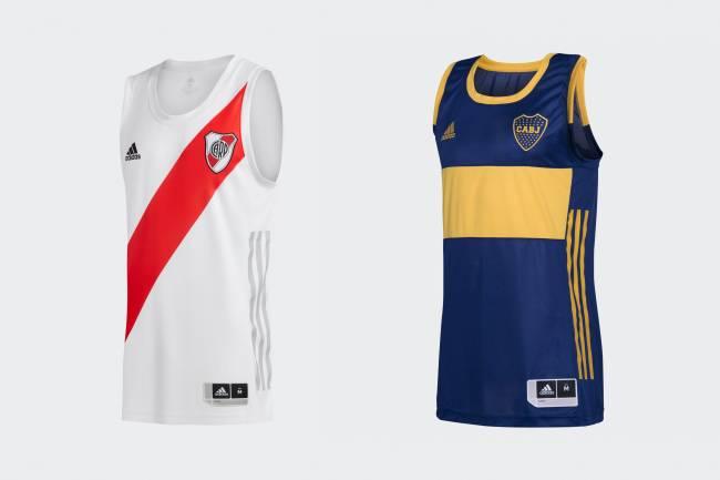 Adidas lanzó las nuevas camisetas de basquet de Boca y River