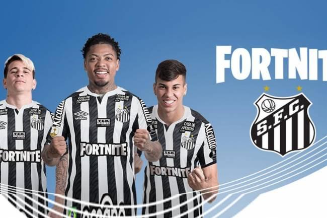 Fortnite nuevo sponsor principal de Santos en la CONMEBOL Libertadores
