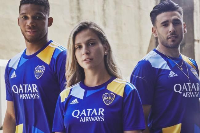 Adidas presentó la tercera camiseta de Boca Juniors