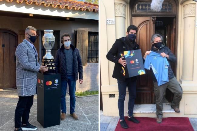 Mastercard activa su patrocinio con la CONMEBOL Copa América junto a Sergio Goycochea y Sebastián Abreu