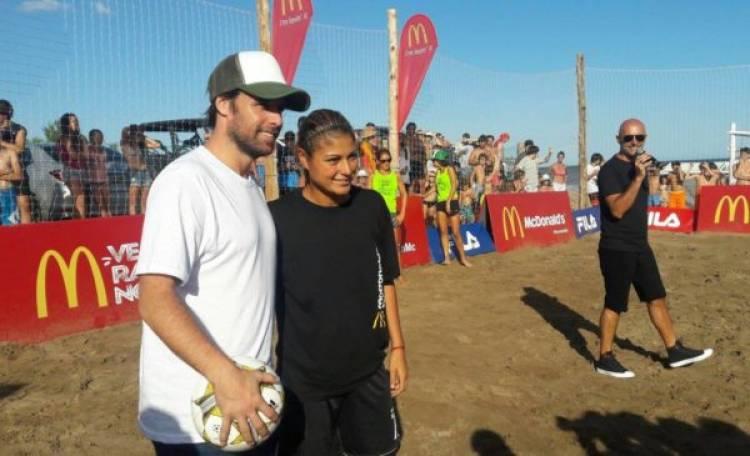 Mc Donald´s realizó una nueva clínica de fútbol para chicos en Pinamar