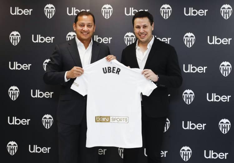 Uber se convierte en patrocinador oficial de Valencia