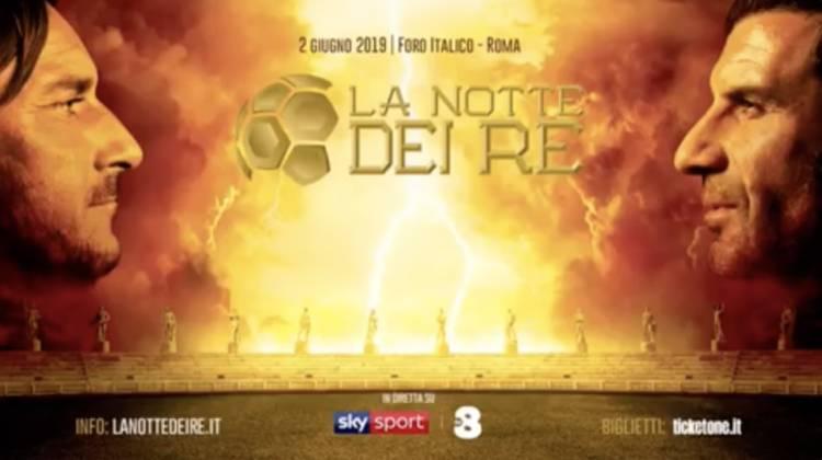 Francesco Totti y Luis Figo se enfrentan por una buena causa