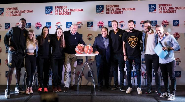 La Caja renovó su patrocinio con La Liga Nacional de Básquet