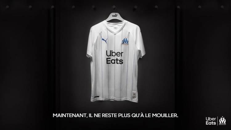 Tras las críticas, Uber Eats modificó su logo de la camiseta del Olympique de Marsella