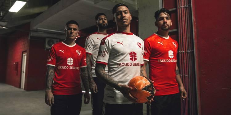 Puma dio a conocer las nuevas camisetas de Independiente