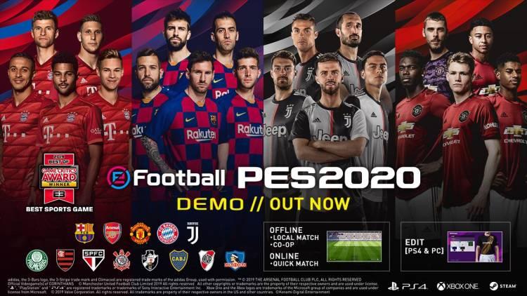 eFootball PES 2020 presentó su portada compartida con presencia de Lionel Messi