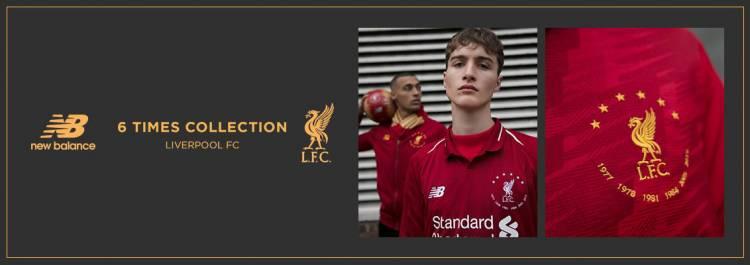 """New Balance presenta la línea """"Six Times"""" de Liverpool"""