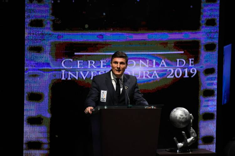 Javier Zanetti ingresa al Salón de la Fama del Fútbol