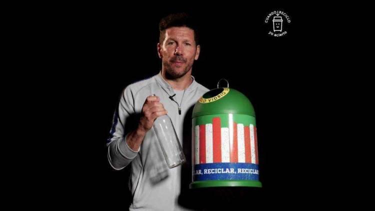 Diego Simeone se suma a la campaña de Ecovidrio