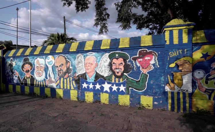 Under Armour intervino los murales de los hinchas de Rosario Central