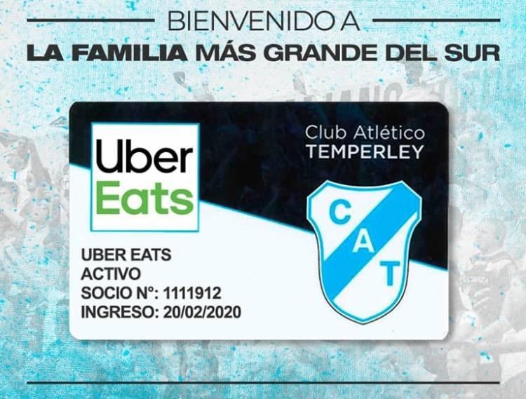 Uber Eats, nuevo patrocinador de Temperley