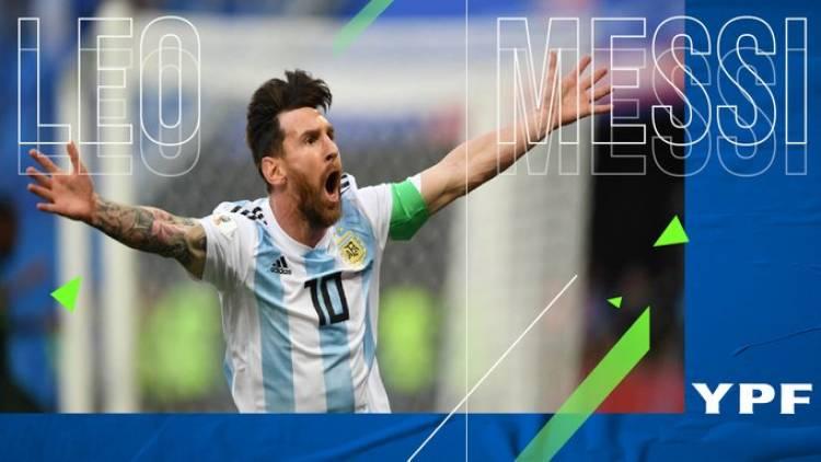 Messi se convierte en la imagen oficial del patrocinio en YPF y AFA