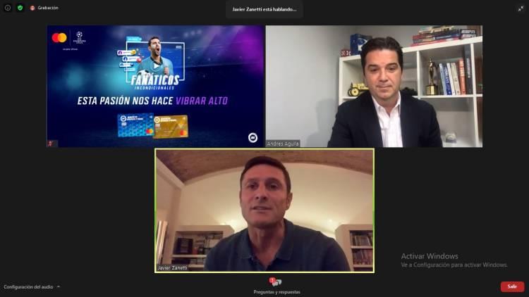 Mastercard y Banco Industrial activaron su patrocinio con UEFA Champions League junto a Javier Zanetti