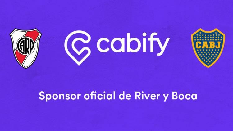Cabify se convierte en sponsor oficial de Boca Juniors y River Plate