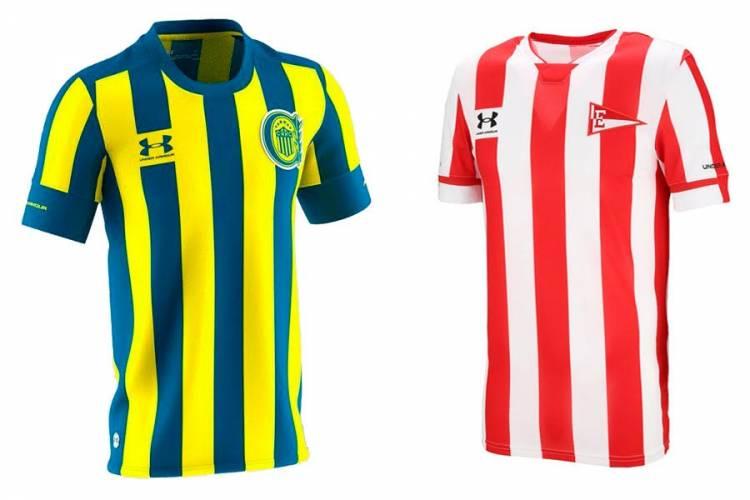 Under Armour presentó las nuevas camisetas de Estudiantes da La Plata y Rosario Central